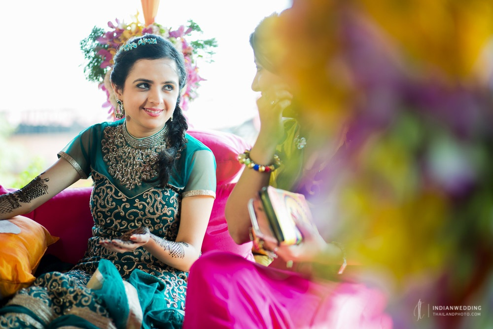 Mehndi Ceremony Photography Indian Wedding Bangkok