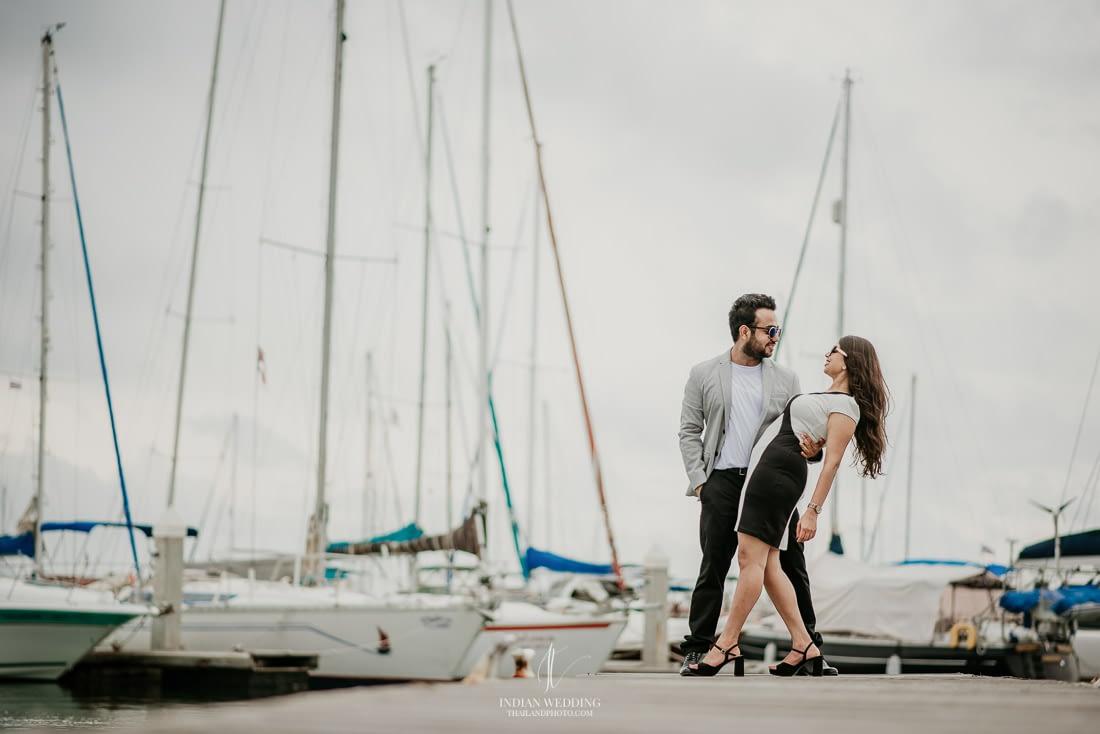Pre Wedding Ocean Marina Yacht Club Pattaya Aman and Avishi