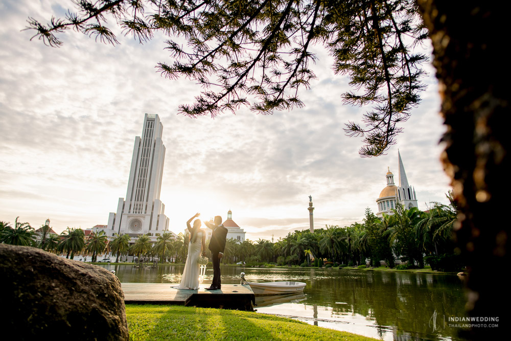 Prewedding photo shoot Bangkok Thailand ABAC Indian Couple